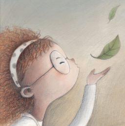 la bambina che dipingeva le foglie